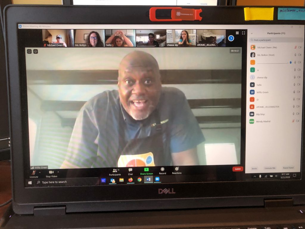 Picture of man on a zoom video conference call